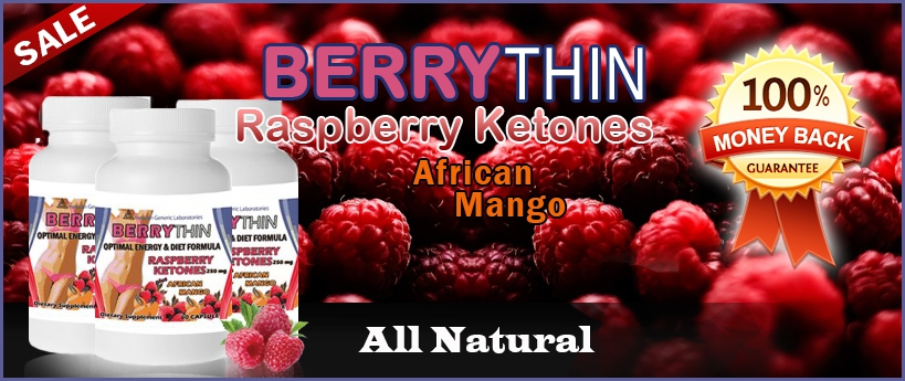 Berrythin diet pills with raspberry ketones and african mango. 60 capsules, energy and diet formula