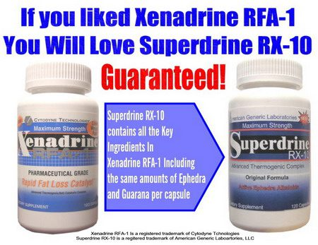 Xenadrine RFA-1 is Replaced by Superdrine RX-10