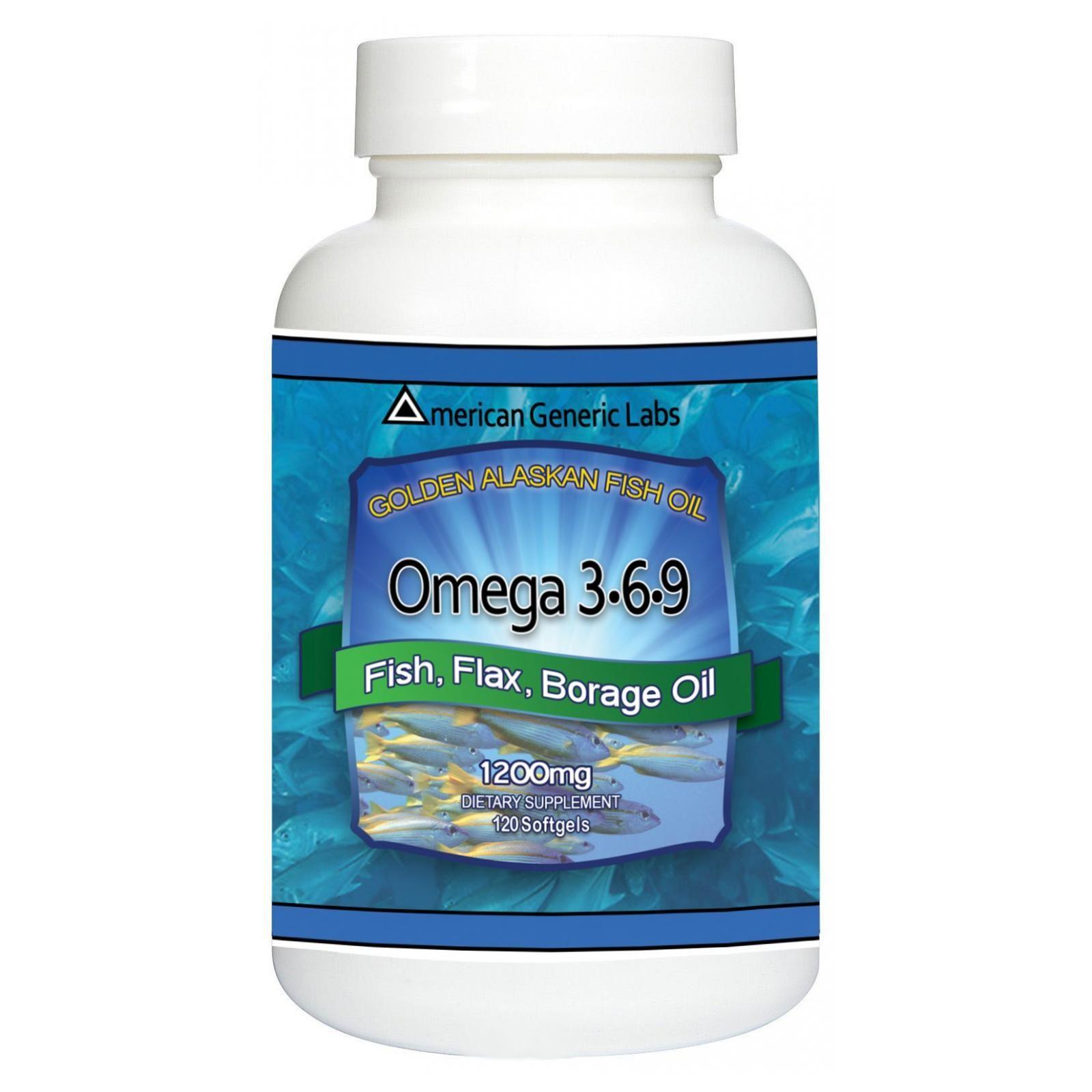 American Generic Labs Omega 3•6•9, 120 softgels