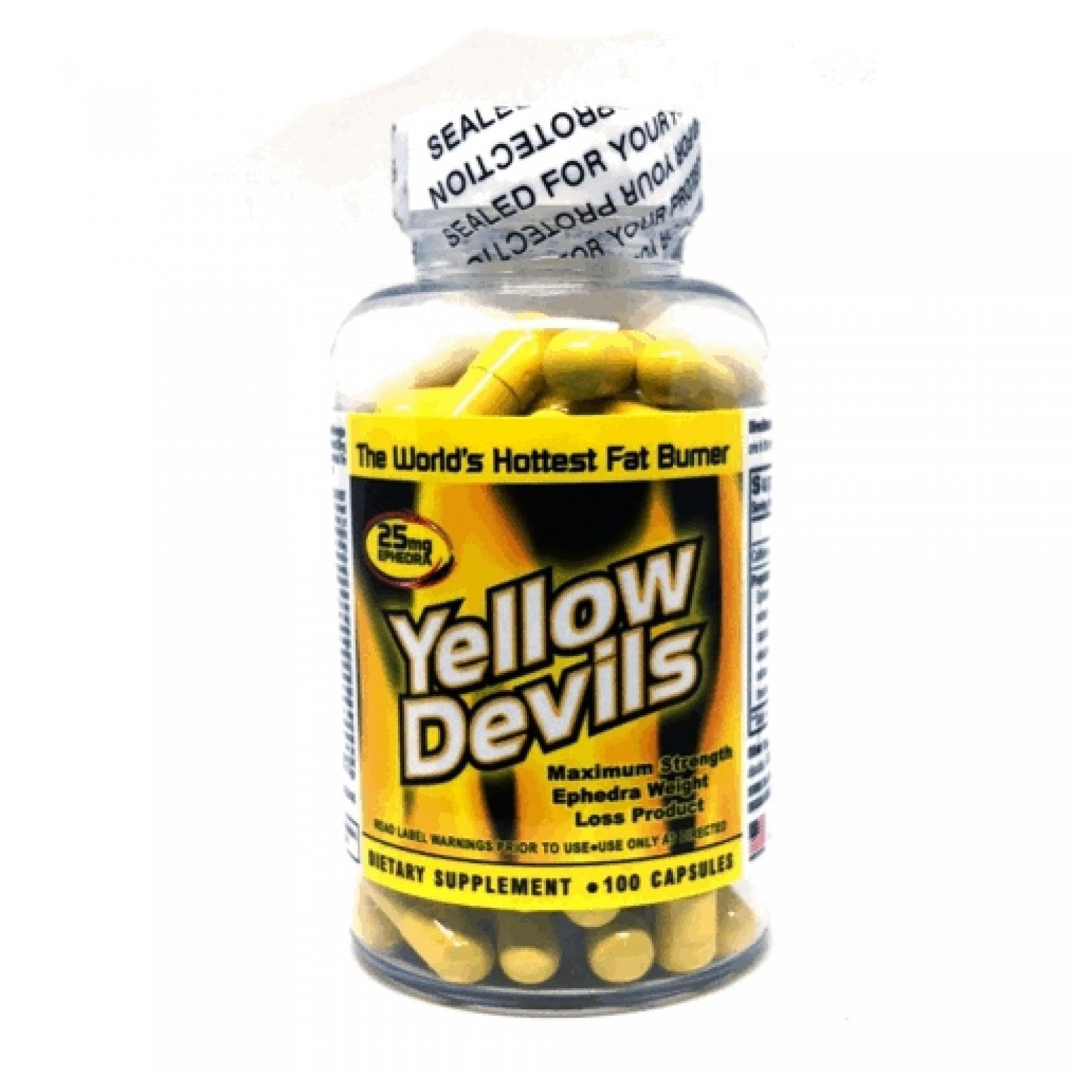 American Generic Labs Yellow Devils 25 mg Ephedra 100 Capsules